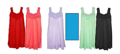 WOMEN'S NIGHTGOWN, ROSETTE TOP, 5 COLORS, PRETTY!(see measurements) S & M ,NWT!