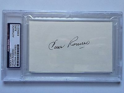 Cesar Romero Signed Index Card Psa/dna Slabbed Autograph 1966 Batman Tv Joker