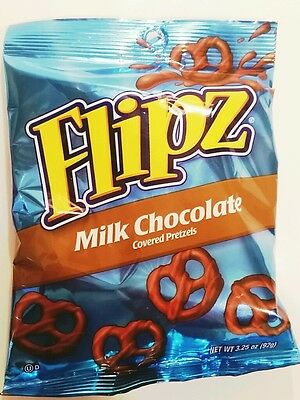 FLIPZ, MILK CHOCOLATE COVERED PRETZELS 5 oz