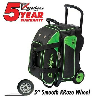 KR Strikeforce Lane Rover 2 Ball Roller Black/Lime Green Bowling Bag