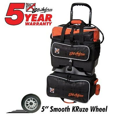 KR KRush Orange/Black 4 Ball Roller Bowling Bag