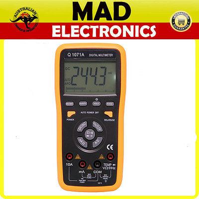 Auto Ranging Digital Multimeter with USB Datalogging