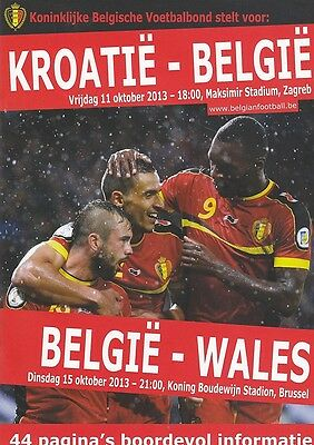 * 2013 - BELGIUM v WALES (WORLD CUP QUALIFIER) *