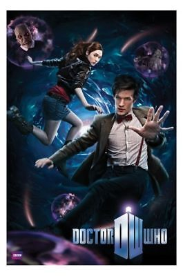 DOCTOR WHO Matt Smith Collage POSTER 61x91cm NEW 11th dr Amy Pond + monsters