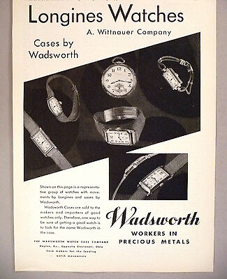 Longines Watch PRINT AD - 1930 ~ Wittnauer Co. ~ watches