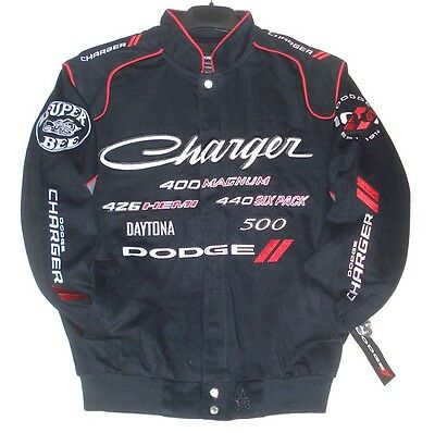 Size L JH Design Dodge Charger Racing Embroidered Cotton Jacket Generic  LG