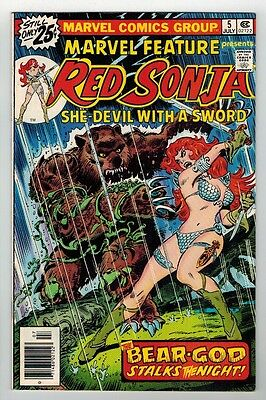 Marvel Feature Presents Red Sonja #5 - Frank Thorne Art & Cover - 1976
