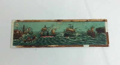 Ernst Plank Magic Lantern Slide Ships At Sea Nautical
