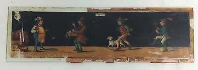 Ernst Plank Magic Lantern Glass Slide Soldier, Merchant And Villagers Antique
