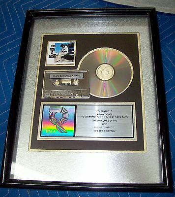Rare Stevie Ray Vaughan The Sky Is Crying Riaa Platinum Sales Award Beautiful!!