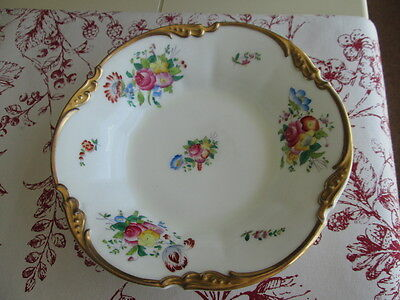 "Vintage George Jones & Sons Crescent Round Floral & Gilt Plate  8.25""   Stunning"
