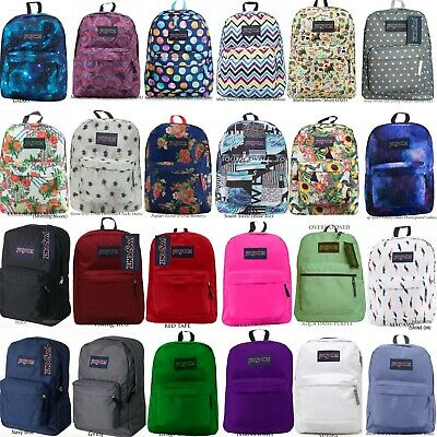 Jansport Superbreak Backpack 100% Authentic School Bag,black,red,grey,blue,white
