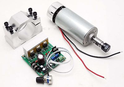 CNC 400W  Spindle Motor ER11 & Mach3 PWM speed controller & Mount engraving set
