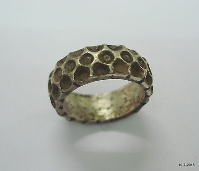 vintage antique ethnic collectible tribal old silver band ring