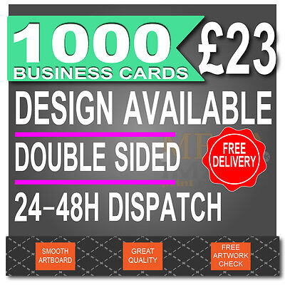 1000 Business Cards, FULL COLOUR, DOUBLE SIDED, 24-48H DISPATCH