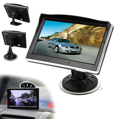 """5"""" TFT LCD Car Rear View Monitor Color Screen DVD VCR For Reverse Backup Camera"""