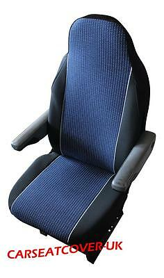 Fiat Ducato Luxury Motorhome Seat Covers - Blue/white Spot
