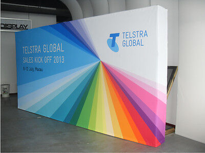 10ft tension fabric pop up trade show display booth exhibition backdrop wall