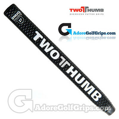 2 Thumb Snug Daddy 27 Putter Grip - Black / White / Silver + Free Tape
