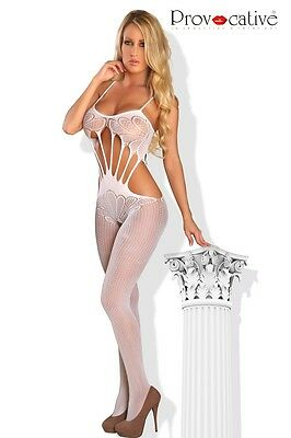 Catsuit PR4462 Provocative Bodystocking Reizwäsche sexy Damen Dessous Weiss