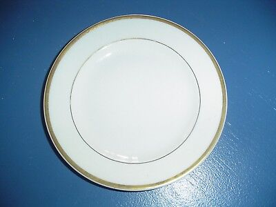 Steubenville White and Gold Trim Bread and Butter Plates