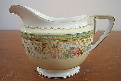Antique Noritake Creamer Japan N174 67771 Circa 1918 Green Band Cream White