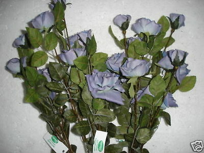 New 12 Stems Tall Lavender Rose Spray X3 Silk Flowers