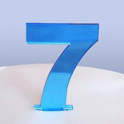 Contemporary Number 7 Cake Topper