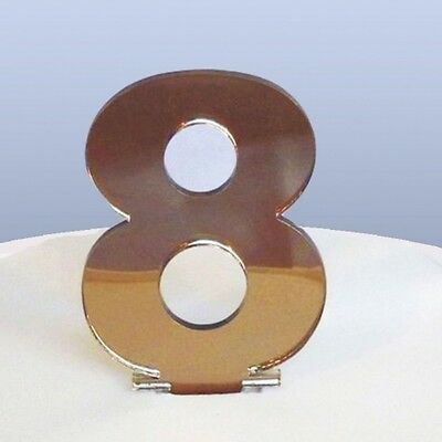 Contemporary Number 8 Cake Topper
