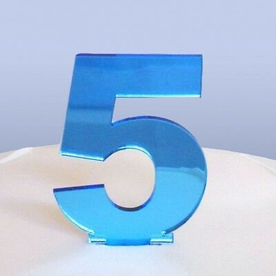 Contemporary Number 5 Cake Topper