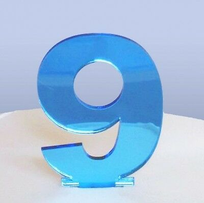 Contemporary Number 9 Cake Topper