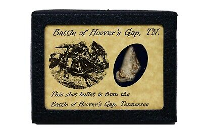 Shot Bullet  From the Battle of Hoovers Gap, Tennessee with COA