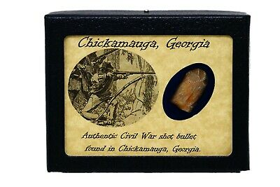 Shot Bullet Relic from The Battle of Chicamauga, GA with Display Case and COA