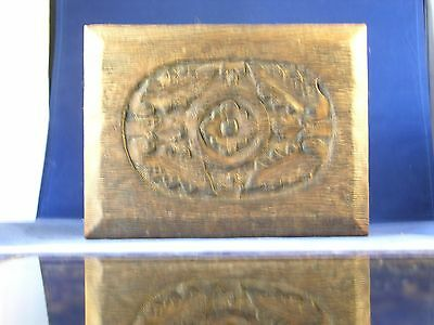 Vintage Primitive Rustic Wood Box Carved Top Made in India?