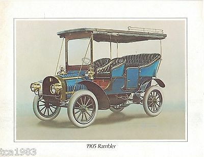 1905 (vintage) RAMBLER Automobile Color Print?Lithograph Picture