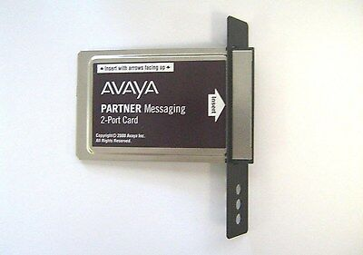 AVAYA Partner Messaging 2-Port Card 700015050 + Mounting Plate - TESTED - USED