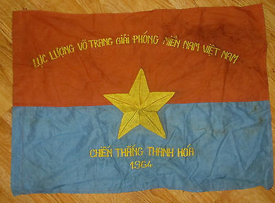 Viet Cong Vc Nlf Nva 1964 Thanh Hoa Chien Thang-Means Victory/liberate Flag