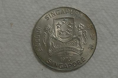 singapore 10 dollars 1973 circulated