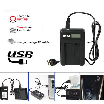 TOP-MAX USB Battery Charger for Canon LP-E6 Canon EOS 7D 60D 5D II 5D Mark III