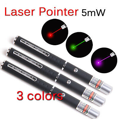 Laser Beam Pointer Pen School Lazer Purple/Green/Red Presentation Pets Light Toy