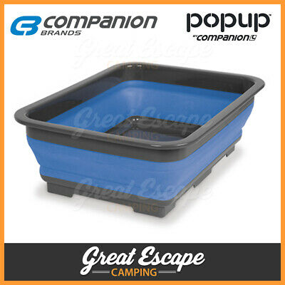 Companion Pop Up 7L Tub. Space Saver for Camping, Camper, Caravan, RV and Boat