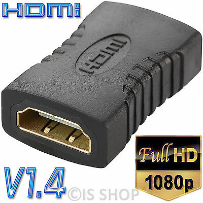 Black HDMI Female  to Female F F Coupler Extender Adapter Connector for HDTV PC