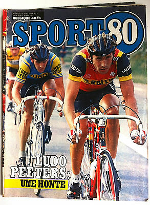 SPORT 80 du 18/08/1982; Ludo Peeters/ John Walker/ Edmondson/ Marlair Armand