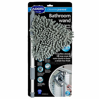 Addis Bathroom Wand Easy Clean Shower Glass Tile Cleaner Cleaning Mop Bath Tool