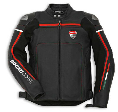 Ducati Corse Leather Mens Motorbike Motorcycle C2 Jacket Race Track Racing