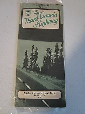 The Trans-Canada Highway road map Canadian Government Travel Bureau 1962
