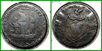 1791 GREAT BRITAIN - HALF PENNY - Liverpool - CONDOR Token #01