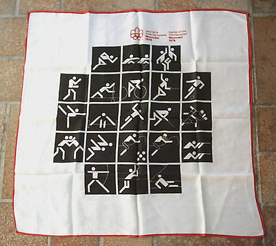Orig.silk scarf   Olympic Games MONTREAL 1976  //  59 x 59 cm  !!  EXTREM RARE