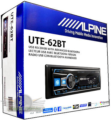 Alpine UTE-62BT In-Dash FM/MP3/USB/Bluetooth Car Stereo Digital Media Receiver