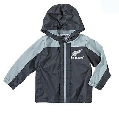 New Zealand All Blacks Rain Jacket Raincoat - Size 1 1/2